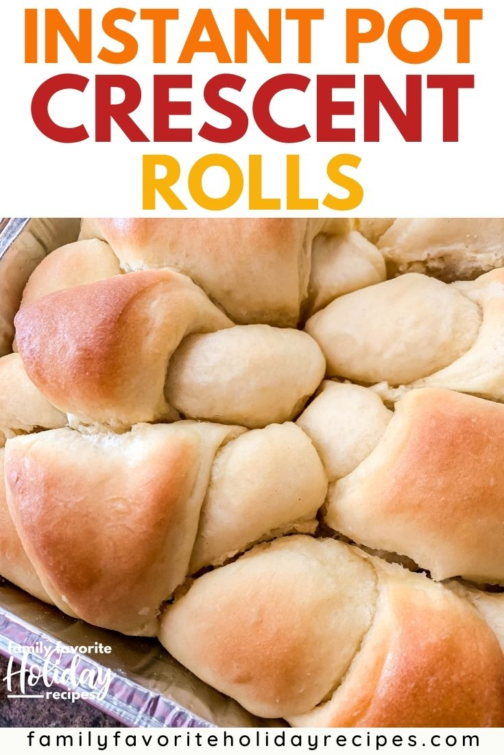 a pan of freshly baked Instant Pot crescent rolls
